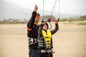 clase privada de kitesurf