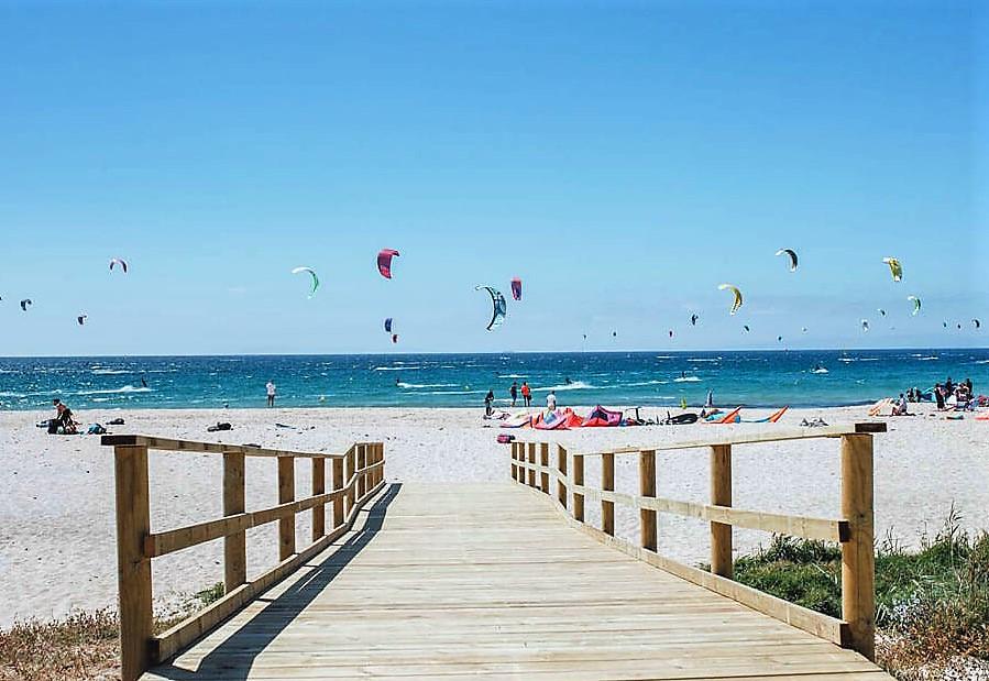 le chemin de la plage de Tarifa